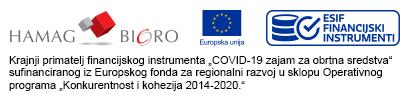 Krajnji primatelj financijskog instrumenta COVID-19 zajam za obrtna sredstva sufinanciranog iz Europskog fonda za regionalni razvoj u sklopu Operativnog  programa Konkurentnost i kohezija 2014-2020.